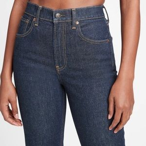 Gap sky high straight dark washed jeans size 4P